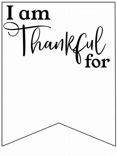 Thankful Banner Am Printable Sign Papertraildesign Paper