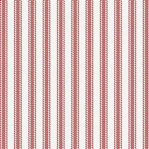 Red Ticking Stripe Fabric by the Yard Red Fabric