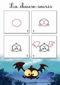 Dessin D Halloween Facile : dessin1 comment dessiner une chauve souris d 39 halloween ~ Dallasstarsshop.com Idées de Décoration