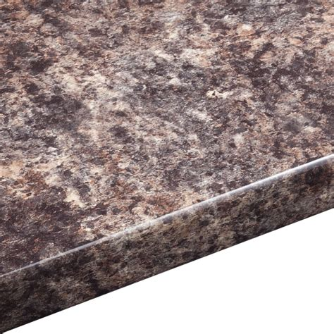 mm jamocha gloss laminate brown  edge worktop