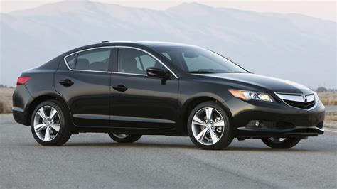 download wallpaper 1920x1080 acura ilx black sedan style side view cars nature full hd