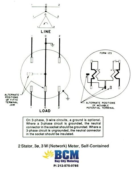 Wire Diagram For Meter by Wiring Diagrams Bay City Metering Nyc