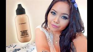 Demo  Mac Face And Body Foundation In C3 On Oily Skin