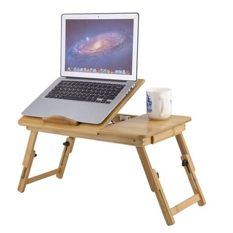 33067 laptop table for bed fashion portable folding bamboo laptop table sofa bed