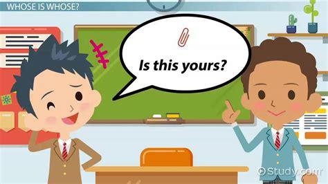 esl possessive pronouns games activities video