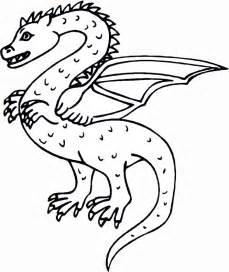 Dragon Coloring Book Page