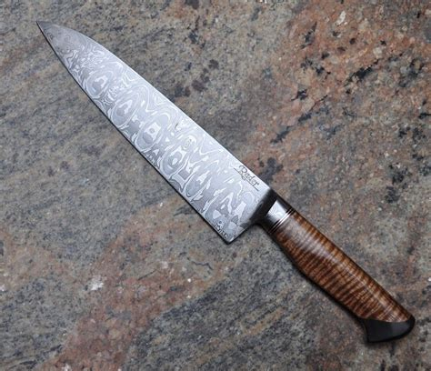 what are kitchen knives made of handmade damascus chef knife by carbon river forge