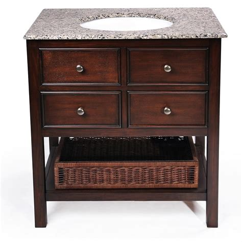 simpli home 24 quot burnaby bathroom vanity with granite top