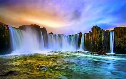 Waterfalls Background Desktop Wallpapers Falls Water Waterfall