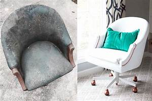 meubles transformes idees maison With peindre canapé simili cuir