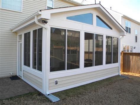 four seasons with siding clearview sunroom window
