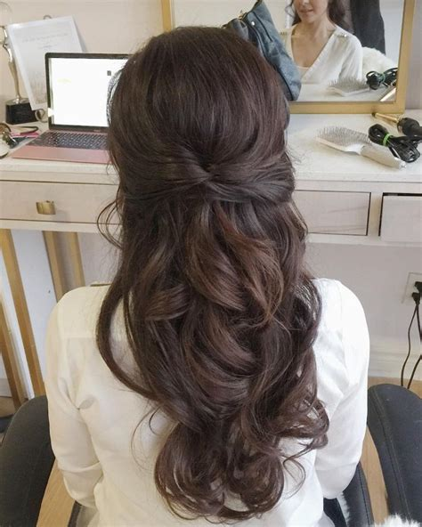 Wedding Half Updo Hairstyles by Partial Updo Bridal Hairstyle Half Up Half Wedding