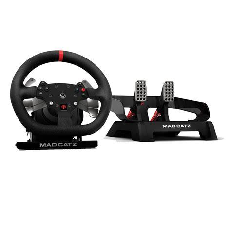xbox one lenkrad mit pedalen mad catz pro racing feedback wheel lenkrad und pedale xbox one rennlenkrad ebay