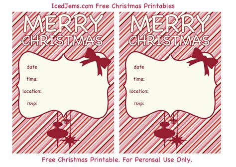 Free Christmas Party Printables