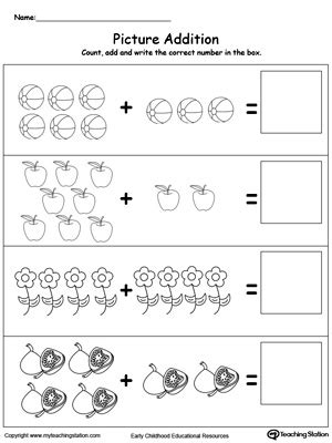 early childhood math worksheets myteachingstationcom