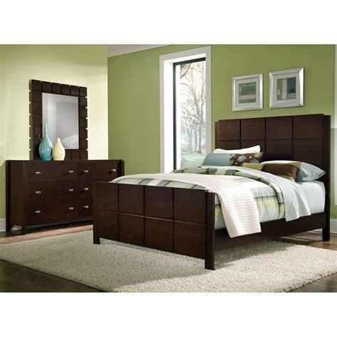 mosaic  piece queen bedroom set dark brown  city furniture