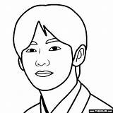Bts Tae Hyung Kim Coloring Pages sketch template