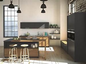 Küche Grau Holz : graue k che silvia mit k chenblock und melaminharzfronten ~ Michelbontemps.com Haus und Dekorationen