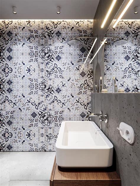 bathroom tiles arrangement trendy bathroom designs combined with modern and geometric concept decor inside