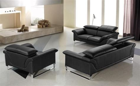 Contemporary Leather Sofa Sets by Elite Contemporary Black Leather Sofa Set Anaheim