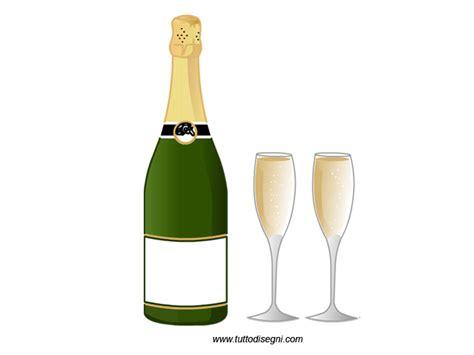 disegni di bicchieri bottiglia di chagne con bicchieri tuttodisegni