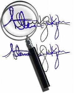 natural variation in handwriting and signatures With forged signature on documents