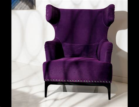 Bedroom Furniture Purple Upholstered Accent Chair
