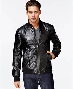 Lyst - Guess Colin Quilted Faux-leather Jacket in Black ...