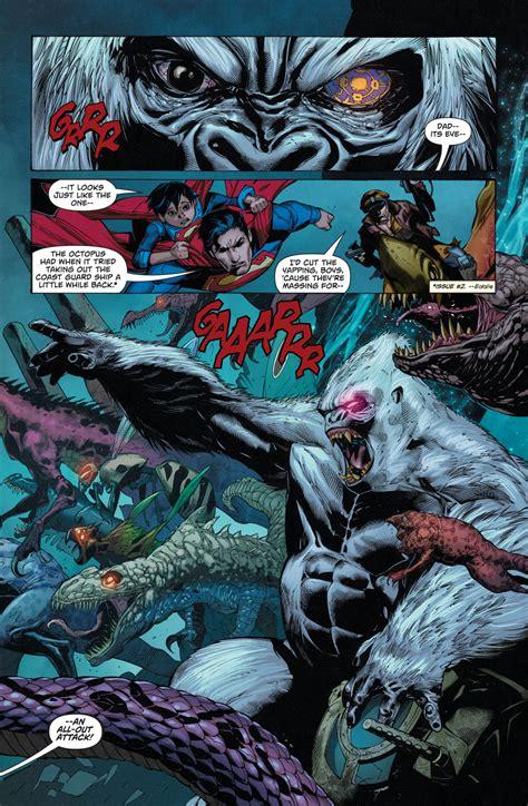 superman  captain storm   monsters  dinosaur