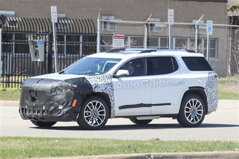 gmc acadia spied testing  mid cycle refresh