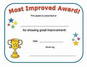 Most improved award certificate all kids network for Most improved certificate template