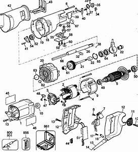 Dewalt Model Dw307mk Saw Reciprocating Genuine Parts