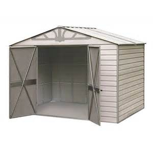 Arrow Metal Sheds Kits by Arrow Admiral10x7 Vinyl Coated Steel Shed Kit Hdvas107