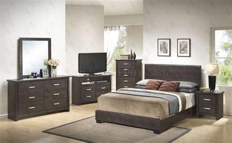 bedroom pc set  dark brown  glory furniture
