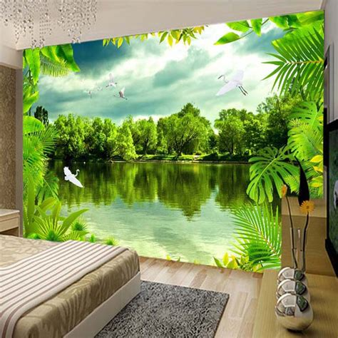 custom  photo wallpaper tropical rain forest green