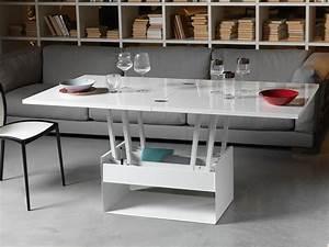 Table Basse Transformable En Table Haute : orfeo in esstisch verwandelbarer tisch mit untergestell aus metall und holzplatte 80 160x80 ~ Teatrodelosmanantiales.com Idées de Décoration