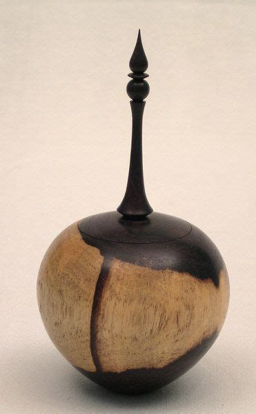 woodturning african blackwood box  finial wood