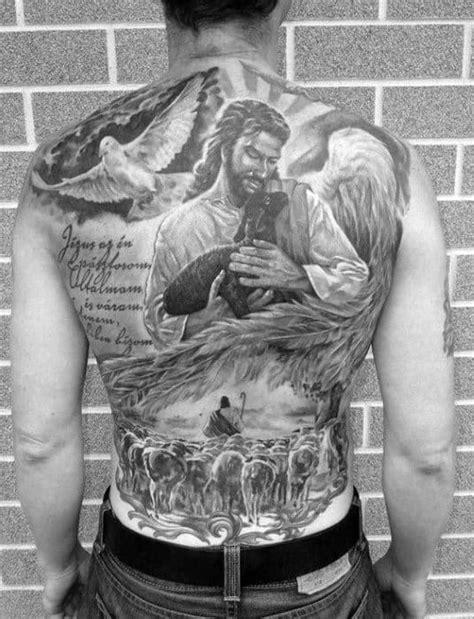 40 Jesus Back Tattoo Designs For Men - Religious Ink Ideas