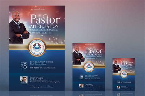 pastor anniversary program templates pastor appreciation flyer poster templa design bundles 23908