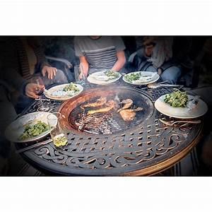 Table De Jardin Fer Forgé : salon de jardin table basse ronde 4 chaises de jardin ~ Louise-bijoux.com Idées de Décoration