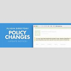 New Policy Changes In Wordpress Plugin Directory Generatewp