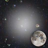 Moon and Milky Way Galaxy