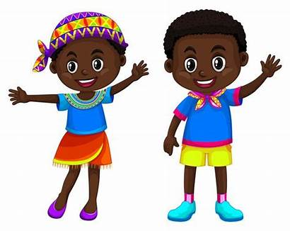 African Boy Clipart Smiling Illustration American Vector
