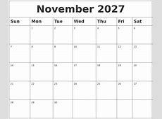 July 2027 Calendar