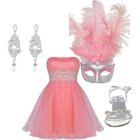 U0026quot;Pink Masquerade/Promu0026quot; by madster on Polyvore | Sweet 16 | Pinterest | Masquerade prom and ...
