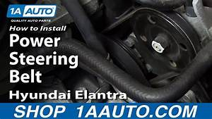 How To Install Replace Power Steering Belt 2001
