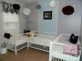 short on space triplet nursery triplets baby nursery