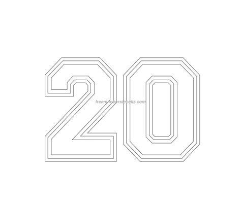 varsity  number stencil freenumberstencilscom