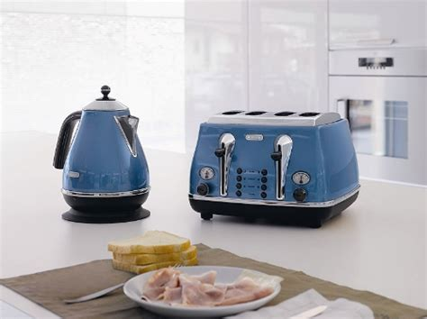 Delonghi Icona Kettle And Toaster Blue