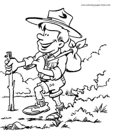 Scouting color page - Coloring pages for kids - Family ...
